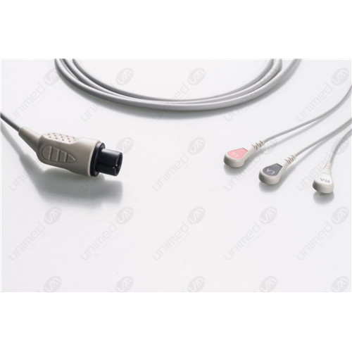 AAMI 6PIN Reusable One Piece ECG Fixed Cable 2340RS