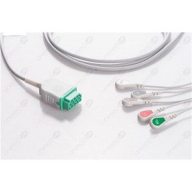 GE Healthcare>Marquette Disposable One Piece ECG Fixed Cable 2586S