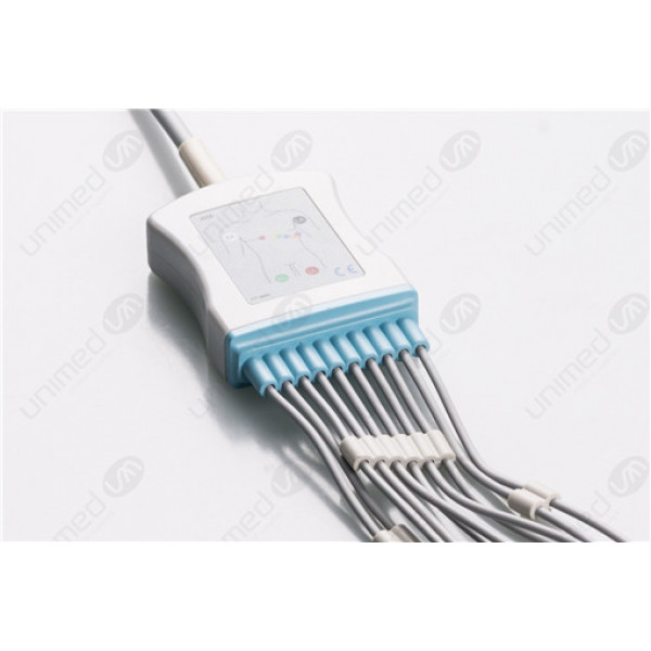 Philips Reusable One Piece EKG Fixed Cable E10R-HP-S