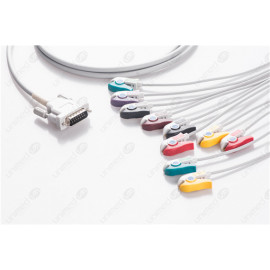 Schiller Reusable One Piece EKG Fixed Cable E10R-SH1-P/I