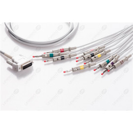 Schiller Reusable One Piece EKG Fixed Cable E10R-SH2-B/I E10R-SH2-B