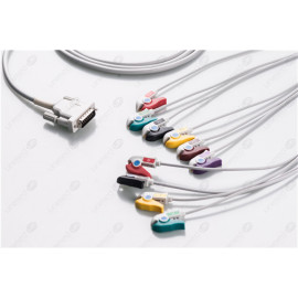 Schiller Reusable One Piece EKG Fixed Cable E10R-SH2-P/I