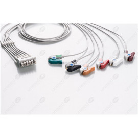 GE Healthcare>Marquette Reusable ECG LeadWires MQB6-90P