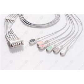 GE Healthcare>Marquette Reusable ECG LeadWires MQB6-90S