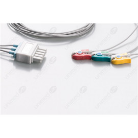 Drager>Siemens Reusable ECG LeadWires SMB3-200P-I