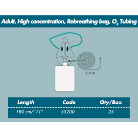 ADULT OXGEN THERAPY SET WITH REBREATHING BAG