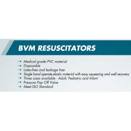Disposable BVM RESUSCITOR MEDUIM, O2 TUBING